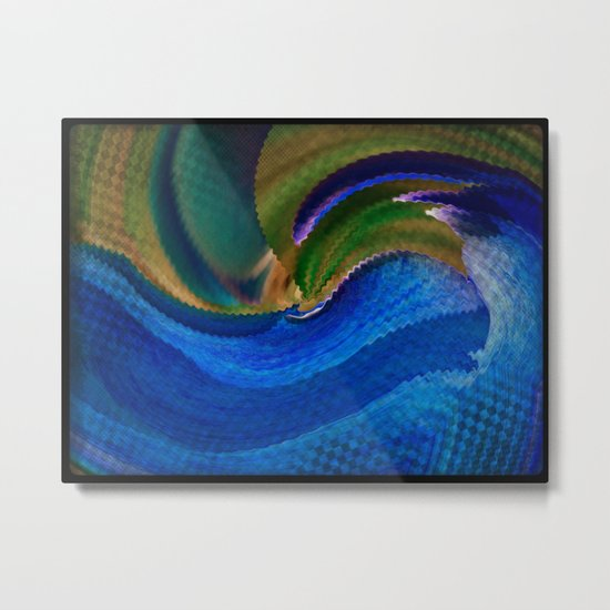 Wild Alaskan Sea Abstract Metal Print