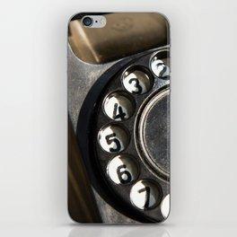 Retro rotary dial telephone iPhone Skin