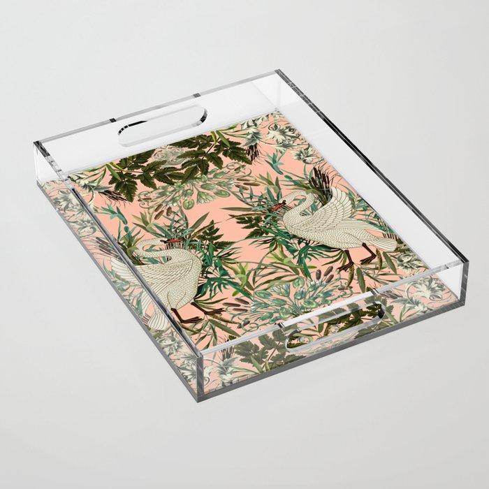 Romantic Swan Acrylic Tray