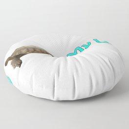 My Sulcata = My Life Floor Pillow