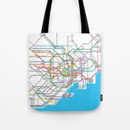 Tokyo Subway map Tote Bag