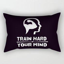 Train Hard Your Mind Rectangular Pillow
