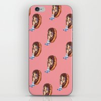 treat yo self iPhone & iPod Skins featuring Treat Yo Self Dots by Kim Wells