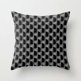 Black On Graphite Throw Pillow