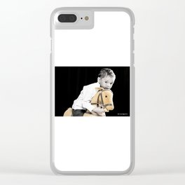 The Golden Horse and The Scary Kid Clear iPhone Case