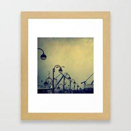 sea mood Framed Art Print