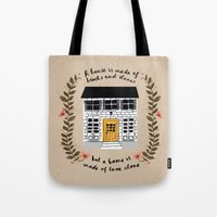 home sweet home Tote Bags featuring Home by Phillippa Lola