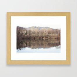 Water lake reflections Framed Art Print