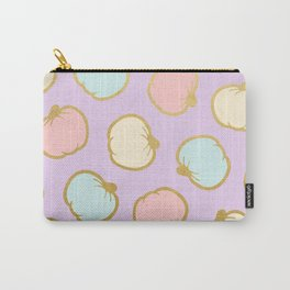 Pastel Pumpkin Pattern with Gold Carry-All Pouch