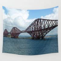 scotland Wall Tapestries featuring Forth Bridge, Scotland by Phil Smyth