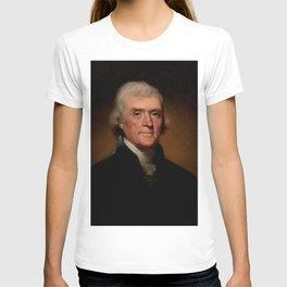Official Presidential portrait of Thomas Jefferson T-shirt