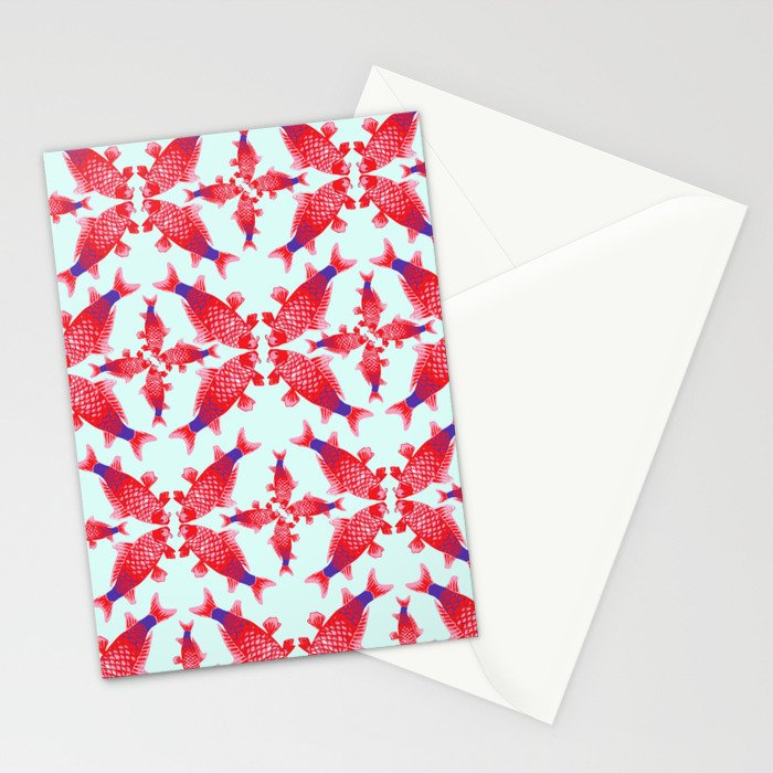 Carpe Diem Fish Star Stationery Cards