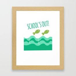 School's Out Framed Art Print