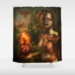 """Arcanum: The two paths"" Shower Curtain"