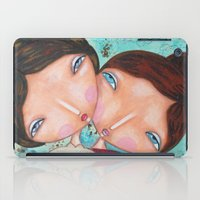 sisters iPad Cases featuring Sisters by Moki