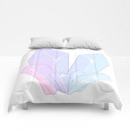 Crystal Fractures Transparent Comforters