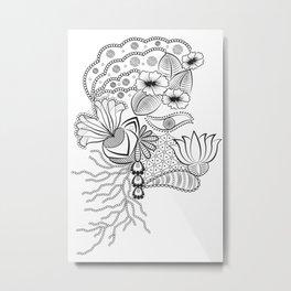 The Florist (B & W) ! Metal Print