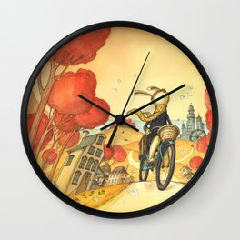 Bike Adventure Wall Clock