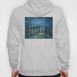 Van Gogh, Starry Night Over The Rhone Artwork Reproduction, Posters, Tshirts, Prints, Bags, Men, Wom Hoody