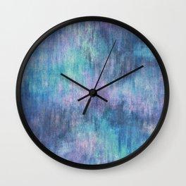 Baja Blue Watercolor Streaks Wall Clock