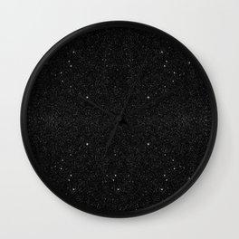 Black & White Majestic Starry Nebula Night Wall Clock