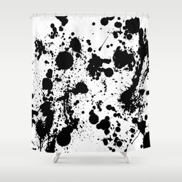 Ink spattered all over - Pattern #society6 #lifestyle Shower Curtain