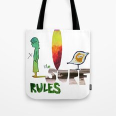 The Surf Rules Tote Bag
