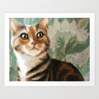 Moxie Cat Art Print