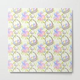 Basket Eggs Metal Print
