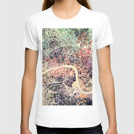 London Mosaic Map #1 T-shirt