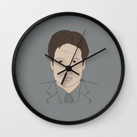 mulder Wall Clocks featuring Mulder by Here Lives Amanda