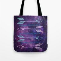 allison argent Tote Bags featuring Argent Code by Captain Emily J.O.