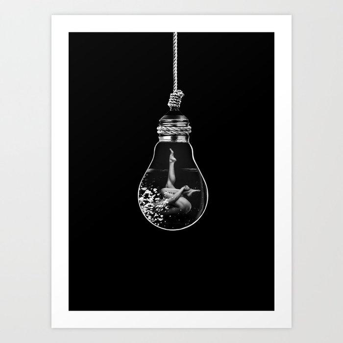 Black and Light Art Print