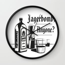 Jagerbomb, Anyone? Wall Clock