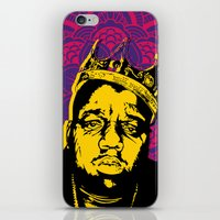 notorious big iPhone & iPod Skins featuring The Notorious BIG by 50mlDesigns