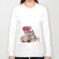 dia de los muertos Long Sleeve T-shirts featuring Dia de los muertos by alicetischer