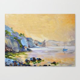 Lonely sailer Canvas Print