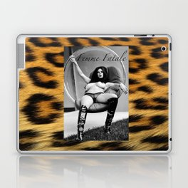 Vintage Pin Up - Stone Hard Femme Leopard Laptop & iPad Skin