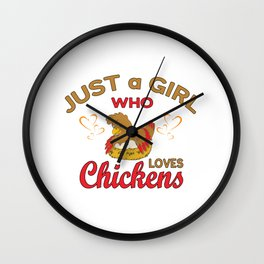 Chickens Baby Backyard Chicken Egg In The Barn Road On The Farm Rock Rule Shirt T Shirts Wall Clock