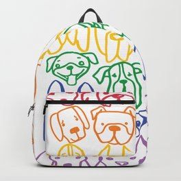 "Rainbow Dogs (Sibling to ""Rainbow Cats"") Backpack"