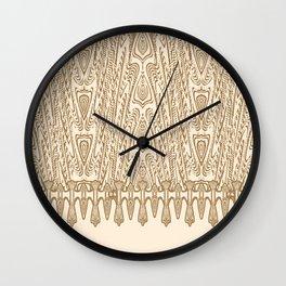 Sepia Macramé Arrowhead Chenille Lace Pattern Wall Clock