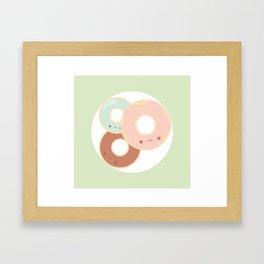 Donuts for breakfast! Framed Art Print