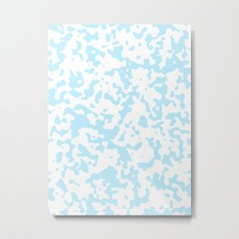 Spots - White and Light Blue Metal Print