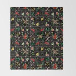 Swallows in a Spanish Rose Garden Throw Blanket