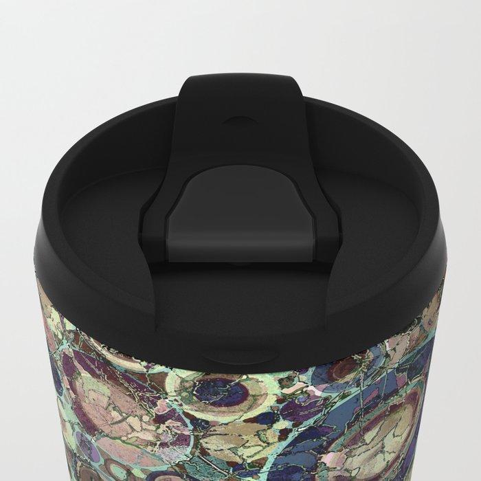 Stone Pattern Fantasy Metal Travel Mug