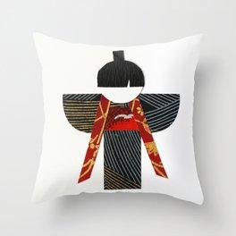 Yukio Red Throw Pillow