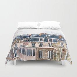 Roofs of Paris Duvet Cover