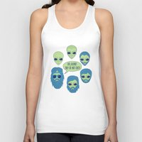 aliens Tank Tops featuring aliens by gotoup