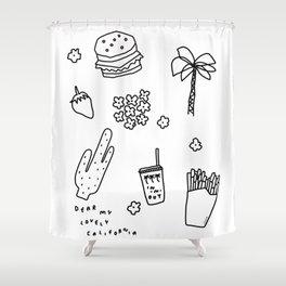 Dear My Lovely California Shower Curtain