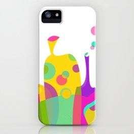 Colorful Funky Bottle Shapes I iPhone Case
